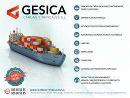 Gesica Cargas y Trincajes it joins the Group Embalex